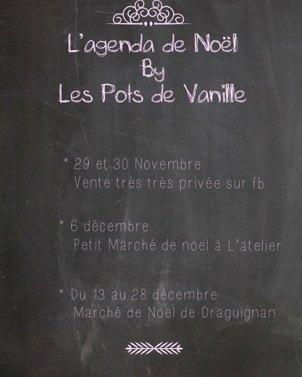 agenda les pots de vanille