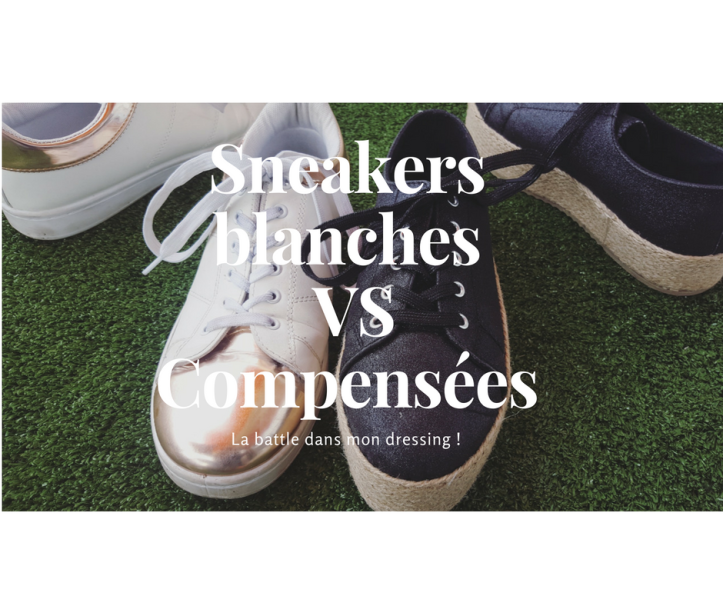 Sneakers blanches VS Compensées